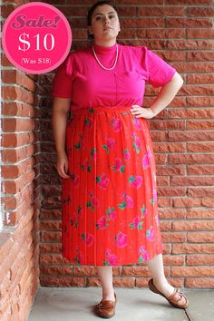 CLEARANCE  Plus Size  Vintage Fuchsia Mock Turtle by TheCurvyElle, $10.00