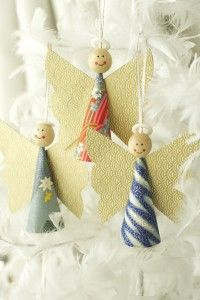 these paper angels would make a great Sunday School craft