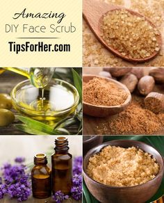Amazing DIY Face Scrub - Take years off your face with this natural homemade age eraser face scrub. Break out the brown sugar to keep your face looking fresh and radiant! The grains remove dead skin cells, leaving you with a healthy glow!