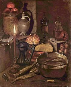 §§§ : Pantry by Candlelight : Georg Flegel  : 1566-1638   http://commons.wikimedia.org/wiki/Georg_Flegel