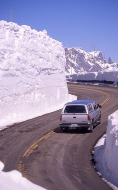 Beartooth Highway, outside Yellowstone National Park... these snow drifts are unbelievable.  Jack and I been on this drive, thankfully we went before the snow drift came.