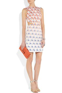 Dion Lee | Element printed silk-faille dress | NET-A-PORTER.COM  Holy cow. I want.