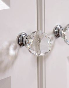 Stunning Vintage Glass knobs, perfect for adding that bit of glamour to your wardrobes #finishingtouches