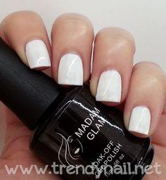 Madam Glam Soak Off Gel Polish #1 Perfect White