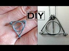 DIY Harry Potter Ring/Necklace Pendant | Wire Wrapped Ring | The Deathly Hallows