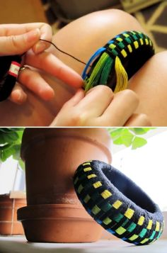 DIY: flossy bangle (video)
