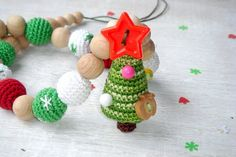 Christmas tree necklace Nursing necklace от MiracleFromThreads, $30.95