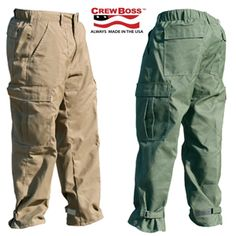 Crew pants with Kevlar & Nomex fabric for exceptional cut and tear resitance.