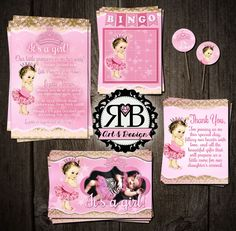 Baby Girl Shower package Part one designed by RMB Art & Design https://www.facebook.com/RMBArtAndDesign/