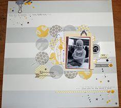 Layout met de Studio Calico kit en een oude foto van William
