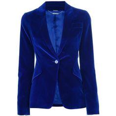 Alexander McQueen | Blue Velvet Blazer | Lyst ❤ liked on Polyvore featuring outerwear, jackets, blazers, alexander mcqueen jacket, alexander mcqueen blazer, blue jackets, blue velvet jacket and blazer jacket