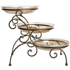 Buffet servers often come with a generous helping of utility and a pinch of… Iron Furniture, Living Room Furniture, Tiered Server, Wrought Iron Decor, Buffet Server, Papasan Chair, Wedding Cake Stands, Party Buffet, Dining Room Sets