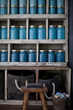 Great idea for storage - paint the insides of jars first!