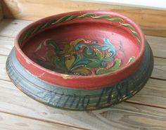 Antique Norwegian Rosemaled Beer Bowl 1787 Norway Orig.