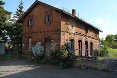 Saechsischer Bahnhof in Gera Cabin, House Styles, Gera, Water Tower, Brewery, City, Cabins, Cottage, Wooden Houses
