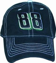 Dale Earnhardt Jr Black Big Number Hat by RacingGifts. $26.50. These officially licensed Dale Earnhardt Jr. Nascar Hats are constructed of heavy cotton blended material, they are made to last for years. They feature your favorite drivers team colors and more! Highest quality printing of logo reproduction. Made to fit most any head size