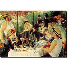"""Renoir's """"Lunching of the boating party"""""""