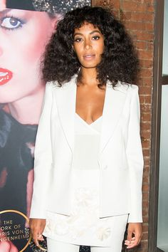Solange Knowles's Bigger-Is-Better Beauty: Her Brushed Curls and Thick Lashes