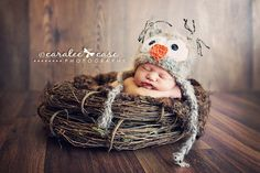 baby with owl hat - Google Search