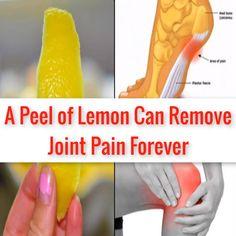 Knee Pain: A Peel of Lemon Can Remove Joint Pain Forever. Rheumatoid Arthritis Treatment, Arthritis Remedies, Vicks Vaporub, Health And Beauty Tips, Health Tips, Knee Pain Exercises, Knee Pain Relief, Home Health Care, Natural Health Remedies
