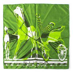 Hermes Mini Scarf In Green