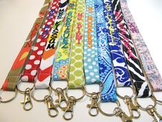 Design Your Own - Personalized Lanyard ID Badge Holder - Monogrammed - Key Strap on Etsy, $12.00