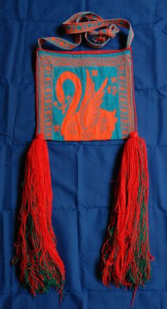 Finely woven bag made by the Huichol or Cora people of Nayarit Mexico - hand made bags made and carried by Huichol men - for more of Mexico & to add to your collection, visit www.mainlymexican... #Mexico #Mexican #Huichol
