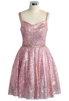 The Perfect Glam Sequins Cami Dress in Pink