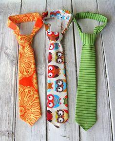 Toddler Tie Set  Owl Tie Set