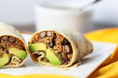 Turkey and Black Bean Burrito