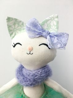 Handmade Dolls Ballerina Cat Doll Handmade Cat Girl Gift