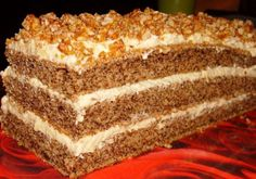 Rețeta pe care o căutam de ceva vreme – Desert divin cu nuci Best Pastry Recipe, Pastry Recipes, Sweets Recipes, Cake Recipes, Romanian Desserts, Cata, Food Cakes, Vanilla Cake, Deserts
