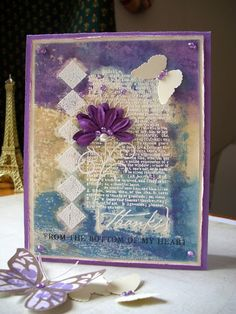 distress inks and white embossing