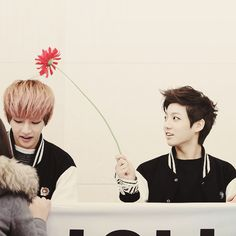 Vkook~ V is the sun! Jungkook is the flower!