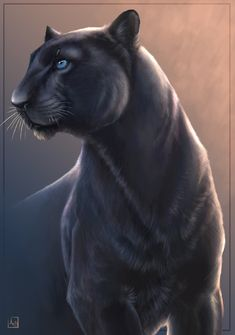 Panthor is a male big cat panther who is linked with Katy his best friend and family.panthor's original linked was a man named Ormij.panthor and Katy's link allows them to gain great powers and transform into stronger forms. Animal Paintings, Animal Drawings, Animals And Pets, Cute Animals, Gato Grande, Black Jaguar, Wild Creatures, Cat Tattoo, Wildlife Art