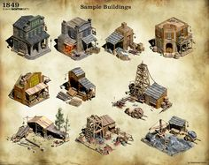 1849 - Sample Buildings by Docslav---GE.deviantart.com on @deviantART