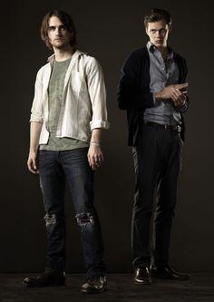 Landon Liboiron  Bill Skarsgard from Hemlock Grove I love these guys!:) I hope there is a 2nd season