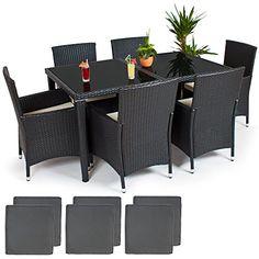 Rattan Sitzgruppe 8+1 Modell 1 | We ♥ Rattan | TecTake | Pinterest |  Sitzgruppe, Rattan Und Modell