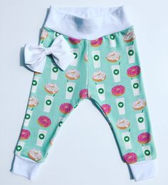 Donuts and coffee baby leggings https://www.etsy.com/listing/501993312/100-organic-fun-print-coffe-and-donuts