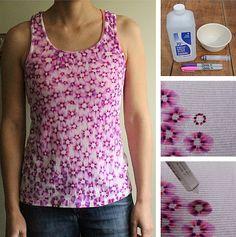 Los patrones en la camiseta