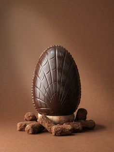 A 350g dark chocolate Easter egg filled with house dark truffles.