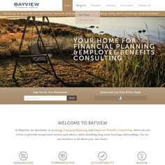 Professional consulting firm needs your creative eye for website redesign! In summary, what we do is two We provide financial planning and investment advice. Our ideal clients are b. Internet Logo, Employee Benefit, Investment Advice, Consulting Firms, Wordpress Theme Design, Financial Planning, Need You, Web Design, Eye