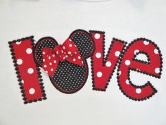 Love Minnie Mouse Shirt for Girls-mouse shirt, boy mouse shirt, personalized mouse shirt, Mickey mouse shirt, vacation shirt, mickey mouse, monogrammed, party, love, minnie mouse, girl