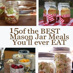 15 of the BEST Mason Jar Meals You'll ever EAT howdoesshe.com