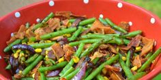 Green Beans With Bacon And Caramelized Onions
