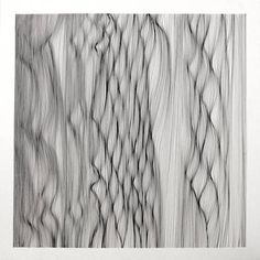 "Saatchi Art Artist John Franzen; Drawing, ""EACH LINE ONE BREATH - SOLD"" #art Line Drawing, Drawing Sketches, Painting & Drawing, Drawings, Breathe, Saatchi Art, Texture, Brainstorm, Contours"