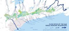 Oak Ridges Moraine map