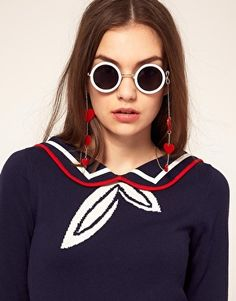 Browse online for the newest ASOS Hearts Sunglasses Chain styles. Shop easier with ASOS' multiple payments and return options (Ts&Cs apply). Latest Fashion Clothes, Fashion Online, Fashion Tips, Heart Sunglasses, Asos, Eyeglasses, Glass Holders, Lanyards, Reading Glasses