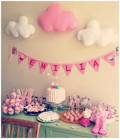 A selection of fun Peppa Pig party ideas. Peppa is known for her loveable and cheeky nature, and these parties reflect that perfectly. Pig Birthday, 4th Birthday Parties, Birthday Ideas, Happy Birthday, Pig Party, Baby Party, Rosalie, Party Decoration, Party Planning