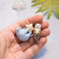 Polymer Clay Animals, Cute Polymer Clay, Cute Clay, Polymer Clay Projects, Diy Clay, Easy Clay Sculptures, Sculpture Clay, Clay Cats, Clay Figures